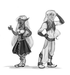 Elves by hazumonster