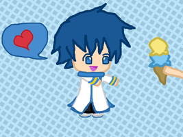 CHIBI KAITO AND ICE CREAM ^ ^ by Cyber-Flames