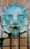 Lion Head Fountain 2 by krissybdesignsstock
