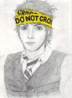 DO NOT CROSS- Gerard Way by chibiusa1001