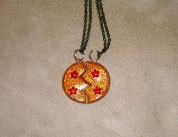 Dragon Ball Bff or lovers necklace by TiffyyyCuppyCake
