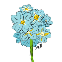 Blue Flowers by lostgirl111