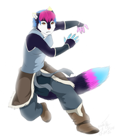 art trade with PONPON-shu by TheFurryRaveStar