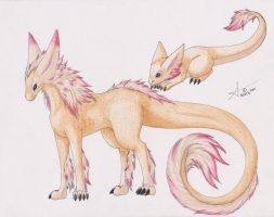 Fakemon 19 - Fire Dragon by Alouf-Art
