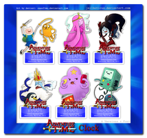 Adventure Time Clock by Jailboticus