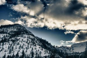 Snow Capped Mountains by KickStart011
