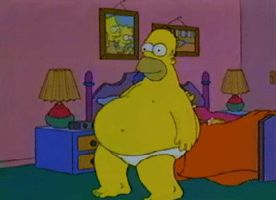 Homer Huge Belly by bendavl