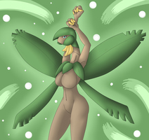 Tropius Anthro by oldanthropokemon