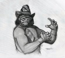 RIP Macho Man by RobtheDoodler