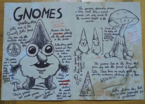 Gnomes | Journal 3 page by Szyszcone