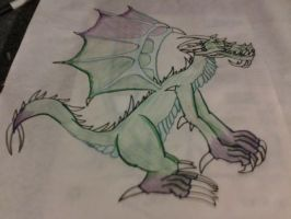 The dragon i drew for school! by shadowlover40