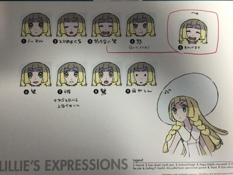 Lillie's Expressions Reference Sheet by Arindle