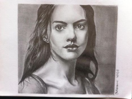 Anne Hathaway in Les Miserables by jesscoleman94