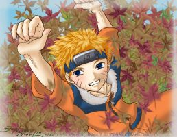 -NARUTO.playing.in.the.leaves- by ToraTenryuu