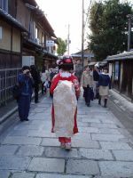 Geisha in Kyoto by divagues