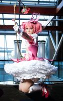 Madoka Fighting Witches by RuffleButtCosplay
