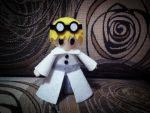 A little mad scientist (felt doll) by minecraftmobs456