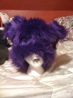 Purple Doggie hat by ToxicAsylum