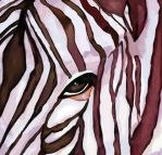 Zebra Painting by Dawn88s
