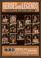 HEROES AND LEGENDS PROFESSIONAL WRESTLING POSTER by TheIronSkull