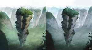Chinese mountain by Wictorian-Art