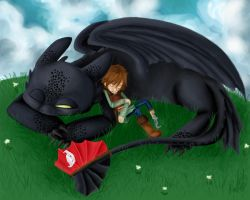 HtTYD-Sleepy Time by Cloudghost