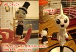 Tongari and Mr Dandy Puppets by kojika