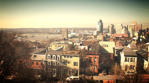 Cincinnati Skyline from Mt. Adams by Kenneth4657