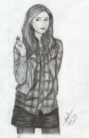 Amy Pond by mumblingwildebeest