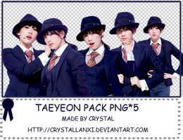 Taeyeon pack png*5 by Crystallanxi