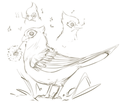 That lil birb by SootySheep