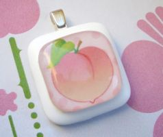 Peach Pendant by luminarydreams