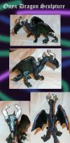 Onyx dragon Sculpture by Eviecats