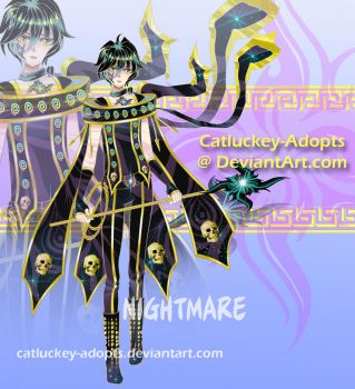 [Closed] Nightmare [Auction Adopt] by Catluckey-Adopts