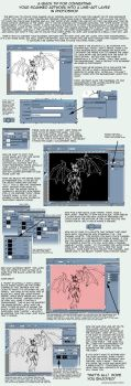 SCANNED LINEART TUTORIAL by anthro-tuts