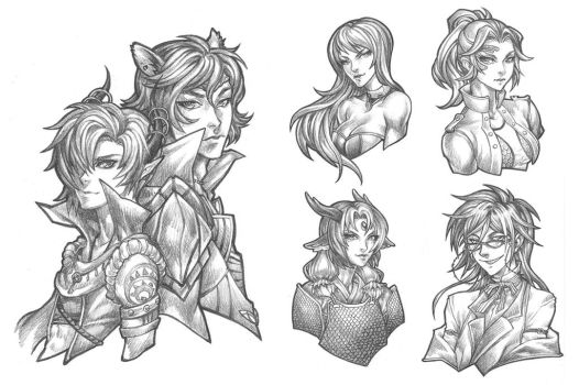 Pencil Commissions - June Collection by bluessence