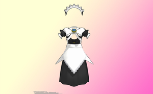 MMD Bow Maid by amiamy111
