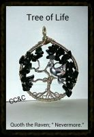 Quoth The Raven 'Nevermore' - TOL Pendant by LadyAriessTemptra