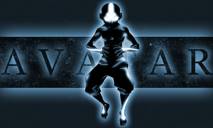Aang Avatar State ATLA - Blue by xKIBAx