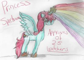 Princess Spectrum Approves: 25 watchers by Tom-and-Rashu