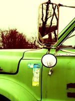 A Green Truck by jeffreyverity