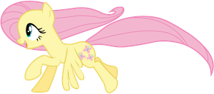 Happy Galloping Fluttershy! by BobtheLurker