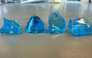 Blue glass rocks by aloiv007