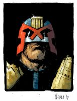 Judge Dredd - Colour by FlowComa