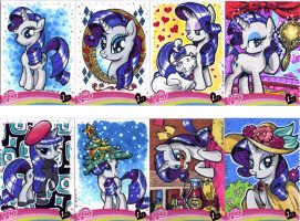 My Little Pony Rarity sketch cards by Kapow2003
