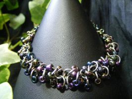 shaggy loops seed bead bracelet by BacktoEarthCreations
