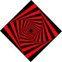 spirale square red black by kaizenman39