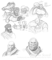 TF2 Heavy -studies- II by birdofyore