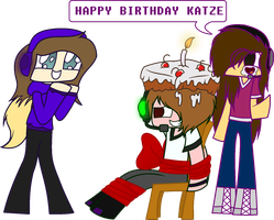Birthday gift for Katze by Laser-Pancakes