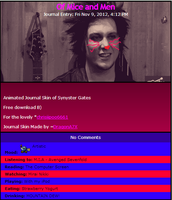 Synyster Gates Mouse Journal Skin by DragonA7X